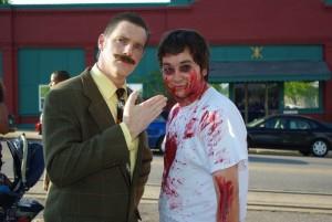 Dr Toboggans treats a young zombie